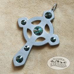 Přívěšek Keltský kříž zelený