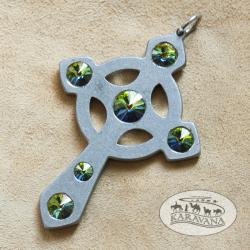 Přívěšek Keltský kříž smaragdový