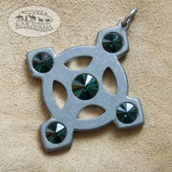 Přívěšek Keltský křížek zelený